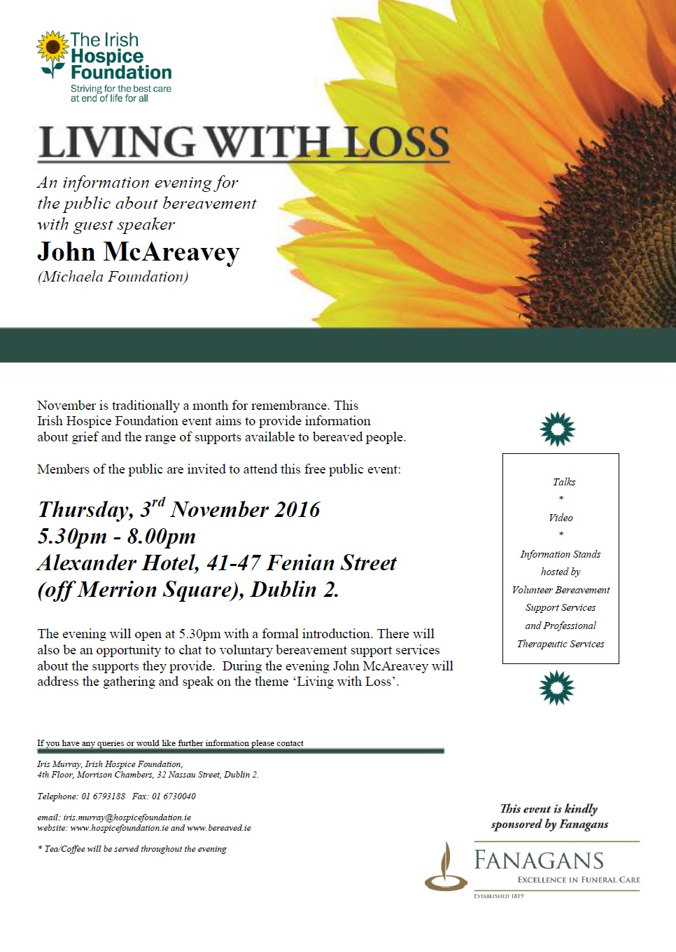 Living With Loss Workshop 2016