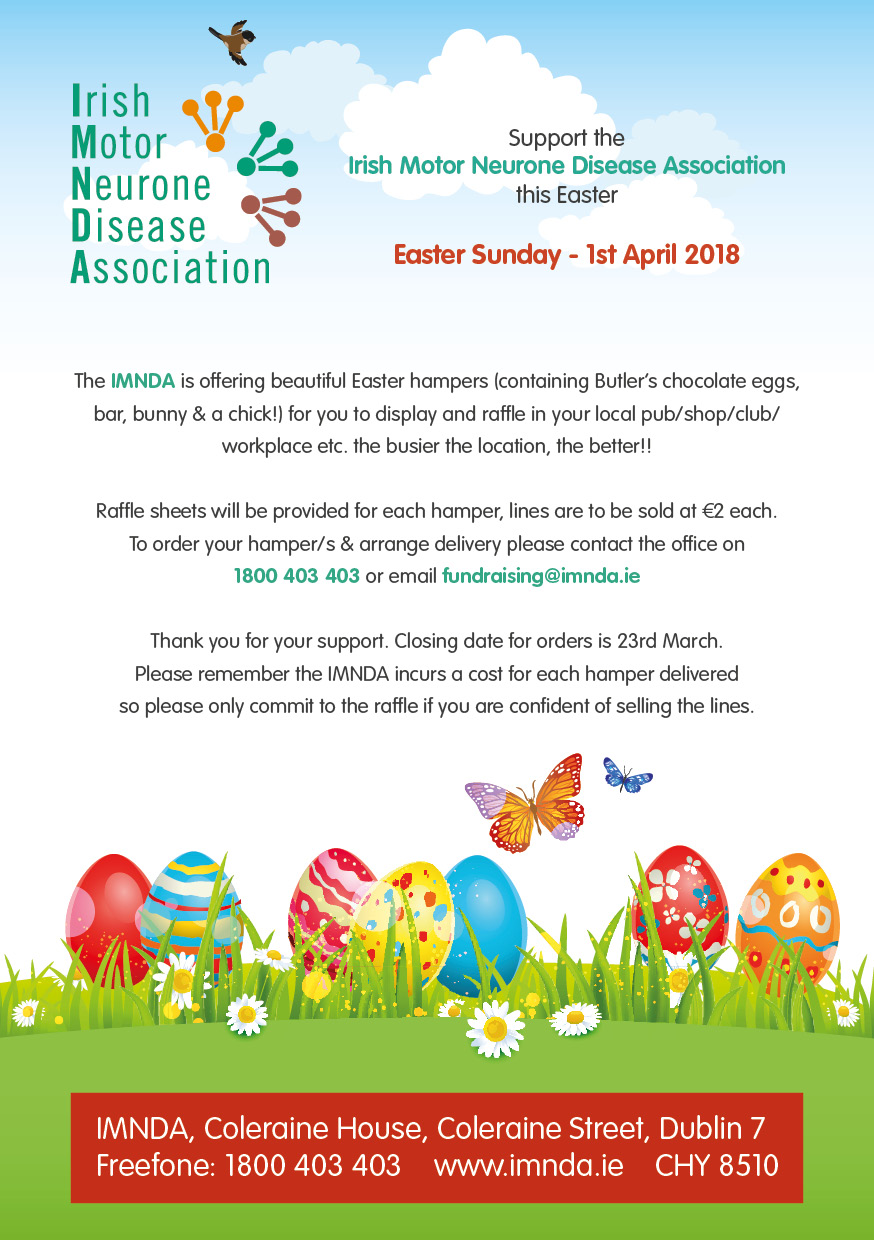 Easter egg raffle imnda please remember the imnda incurs a cost for each hamper delivered so please only commit to the raffle if you are confident of selling the lines negle Images